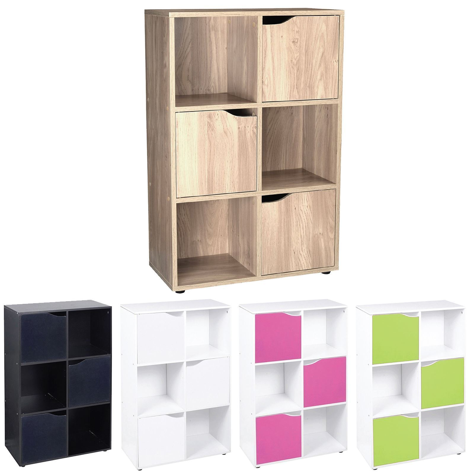 Wooden 10 Cube 10 Doors Storage Unit