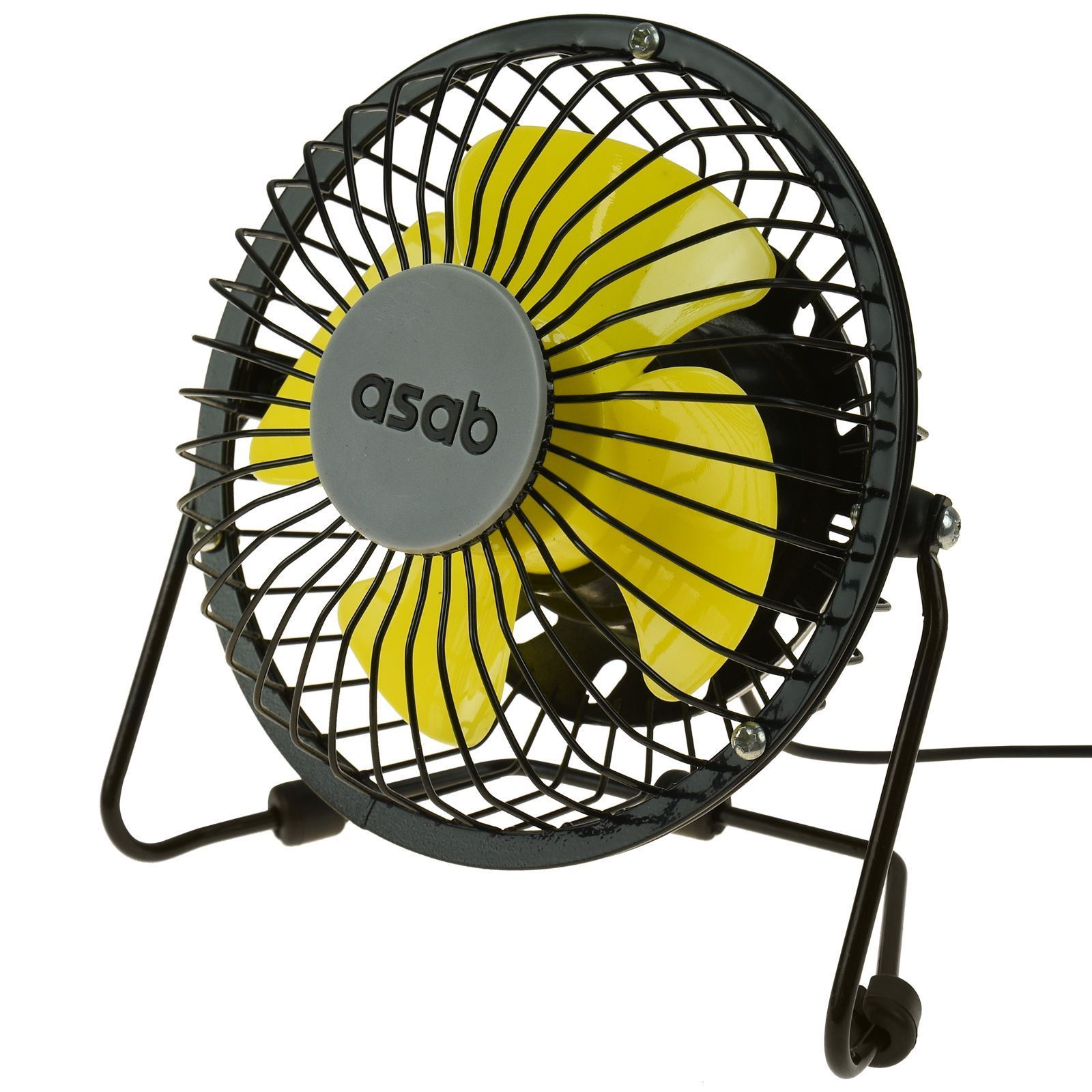 ASAB Mini USB Fan Metal – Yellow 2