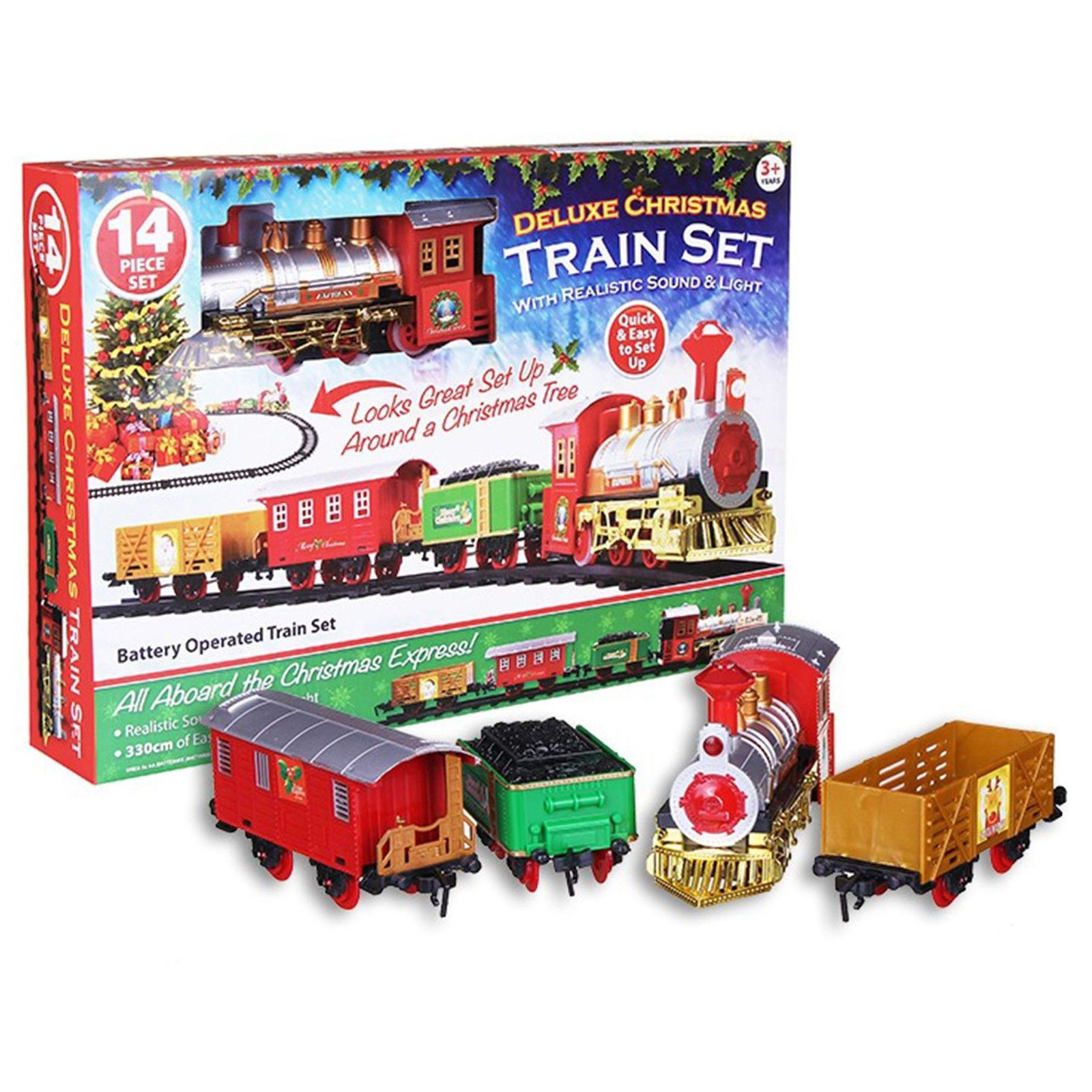 14pc Christmas Express Train Set